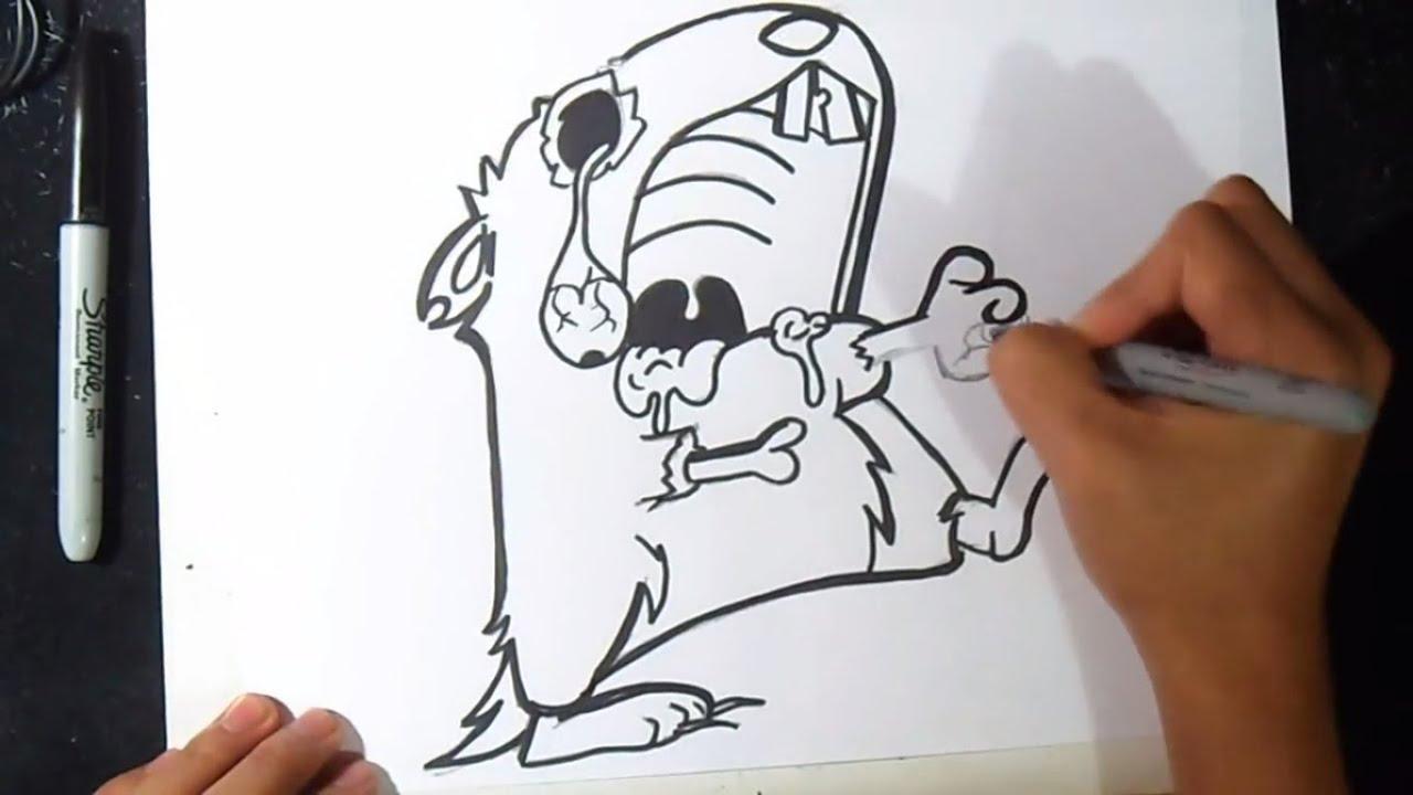 Comment dessiner un hamster zombi graffiti youtube - Comment dessiner un zombie ...