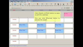 Create Calendar with Smart Calendar Software
