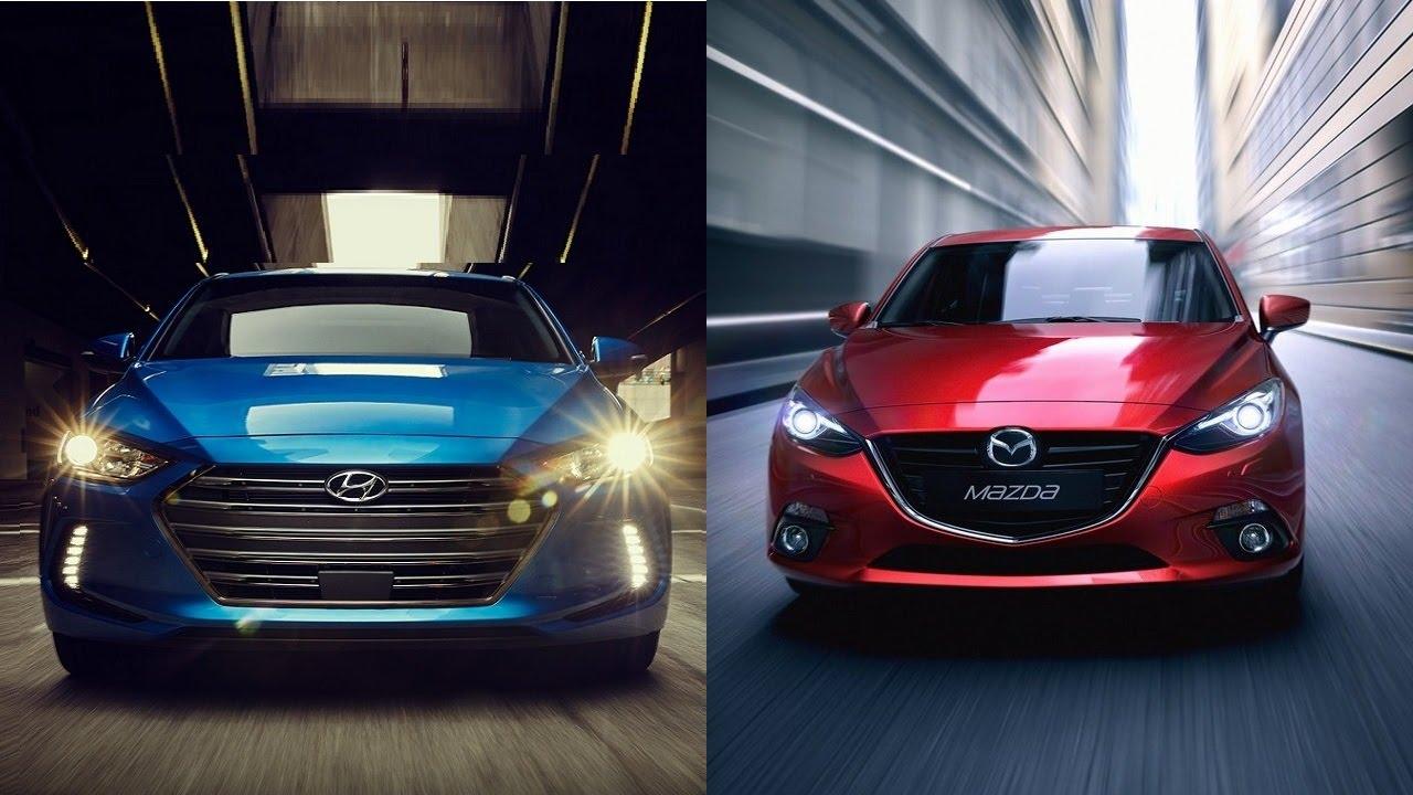 2016 Hyundai Elantra Value Edition >> 2017 Hyundai Elantra vs 2016 Mazda 3 - YouTube