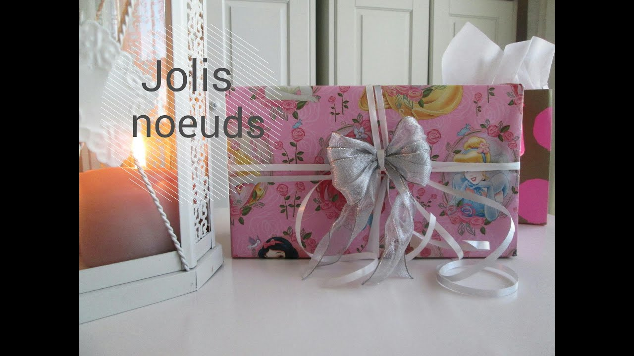 comment faire de jolis noeuds facilement pour les f tes cadeaux anniversaires youtube. Black Bedroom Furniture Sets. Home Design Ideas