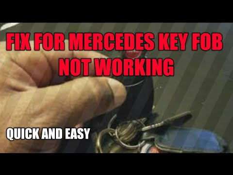 Fix For Mercedes Key FOB Not Working - YouTube