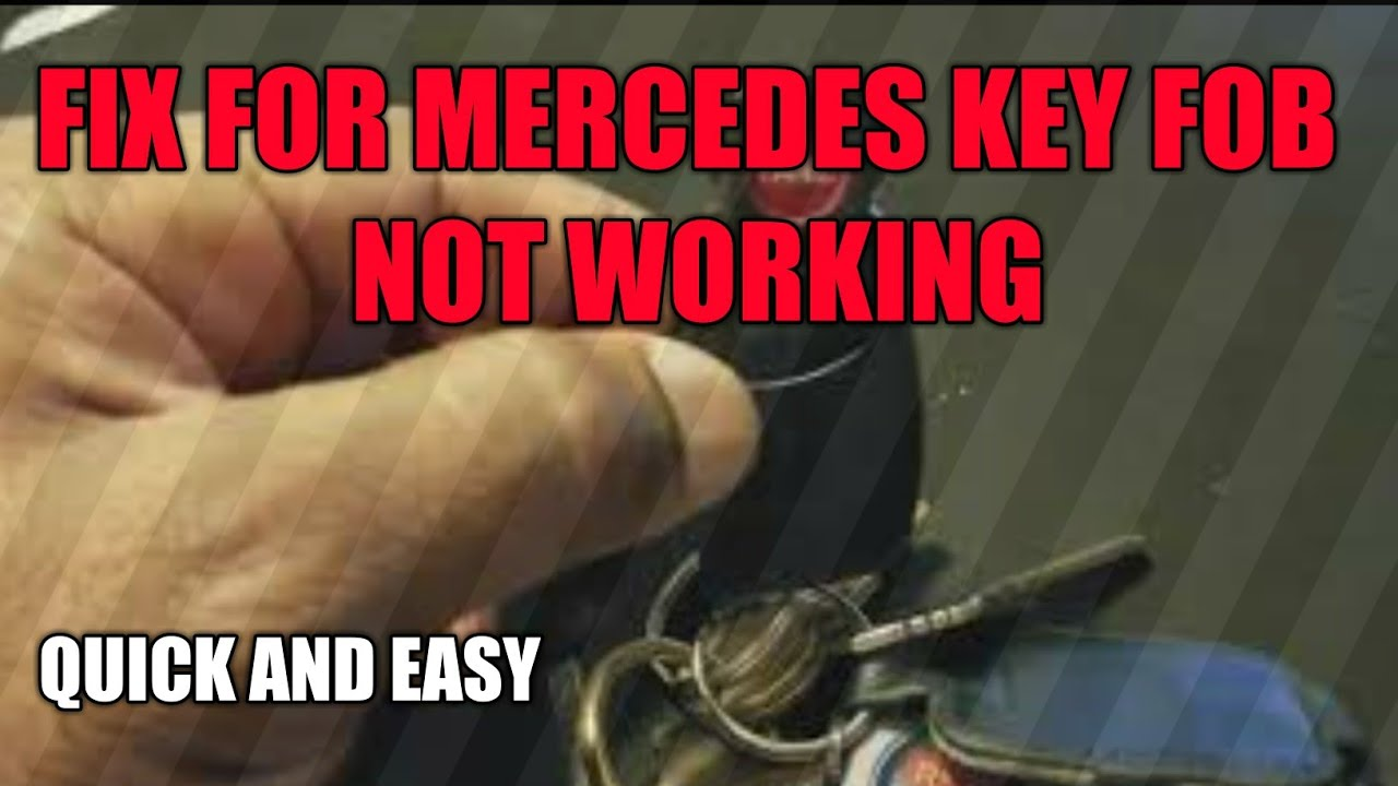 Fix For Mercedes Key Fob Not Working 2008 C350 Fuse Box