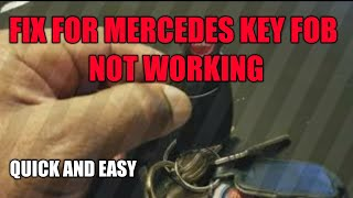 Fix For Mercedes Key FOB Not Working