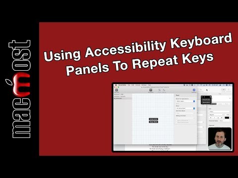 Using Accessibility Keyboard Panels To Repeat Key Sequences (MacMost #1889)