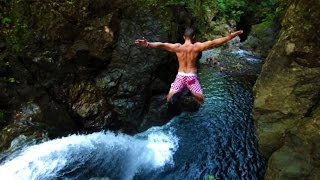 Epic Cliff Jumping and Waterfall Slide (EXTREME DANGER)