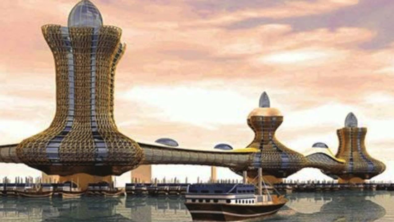 Dubai Plans 'Aladdin City' To Look Like Floating Genie Lamps - YouTube