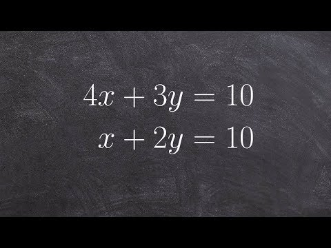 Solving A System Of Equations By Using The Substitution Method