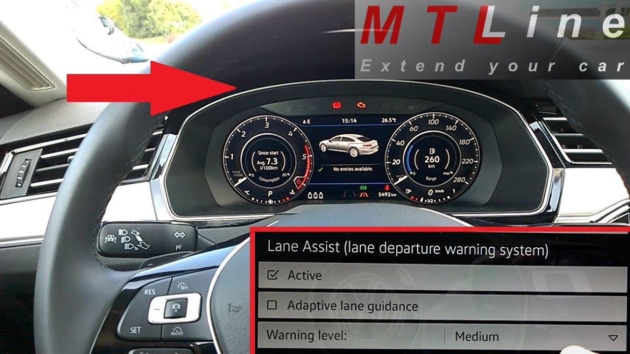 VW Arteon, MY2018 - activation of menu for Lane Assist counter steer  adjustment