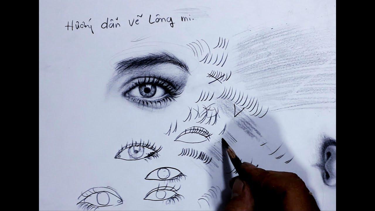 MẸO VẼ LÔNG MI . cách vẽ lông mi  .hướng dẫn  vẽ lông mi