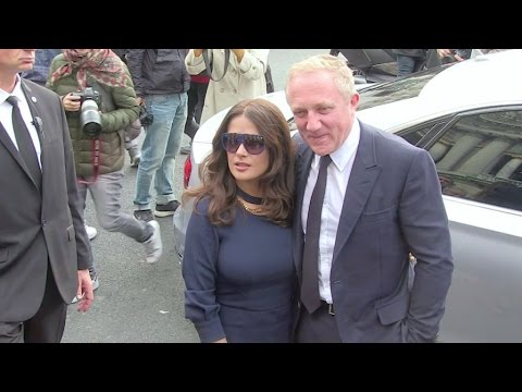 Salma Hayek and her billionaire husband Francois Henri Pinault at Stella McCartney Fashion Show