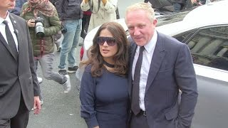 Salma Hayek and her billionaire husband Francois Henri Pinault at Stella McCartney Fashion Show
