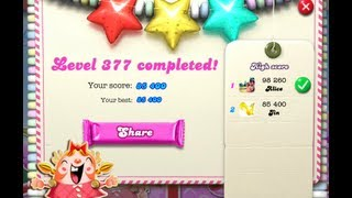 Candy Crush Saga Level 377 ★★★ NO BOOSTER