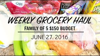 Week at a Glance: Grocery Haul | June 26-July 2 2016