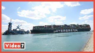 شاهد لحظات محاولة تحريك السفينة الجانحة بقناة السويس ⛔ وتفاصيل إنقاذ الممر الملاحى من أزمة إيفرجيفين