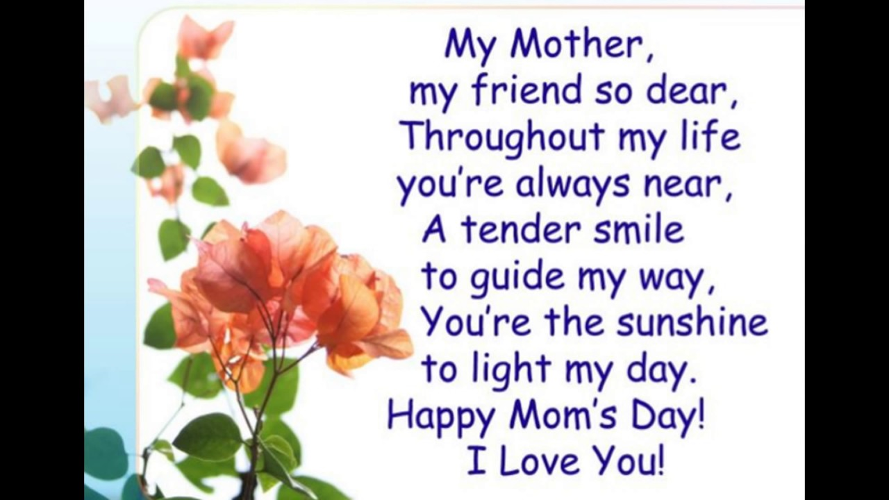 Happy Mother S Day 2017 Love Quotes Wishes And Sayings: Mothers Day Celebration 2017,Mothers Day Poem , Quotes