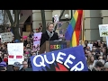 Actor Cynthia Nixon at LGBT Rally Outside Stonewall Inn: Trump's