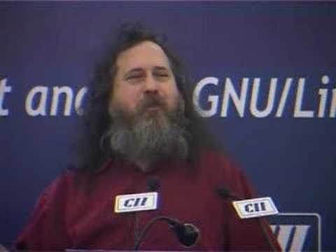 Richard Stallman speaking at the CII Thought Leaders Forum