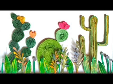 Quilling Cactus 🌵   DIY Cactus Quilling   Quilling Art