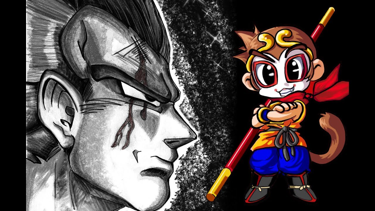 Dragon Ball Z Vegeta Noir Et Blanc Speed Paint 02