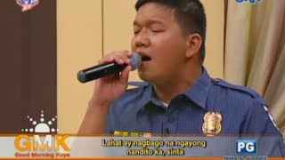 Ngayong Nandito Ka (Divo Bayer Cover) - Singing Police Officer on Good Morning Kuya