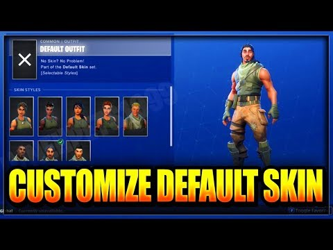 Fortnite: HOW TO CUSTOMIZE/CHOOSE DEFAULT SKINS & HAVE NO BACK BLING GLITCH After Week 2 Challenges