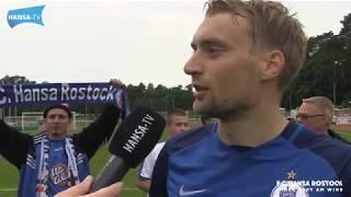 Interviews nach dem Testspiel in Löwenberg