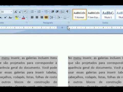 Colunas e Letra Capitular