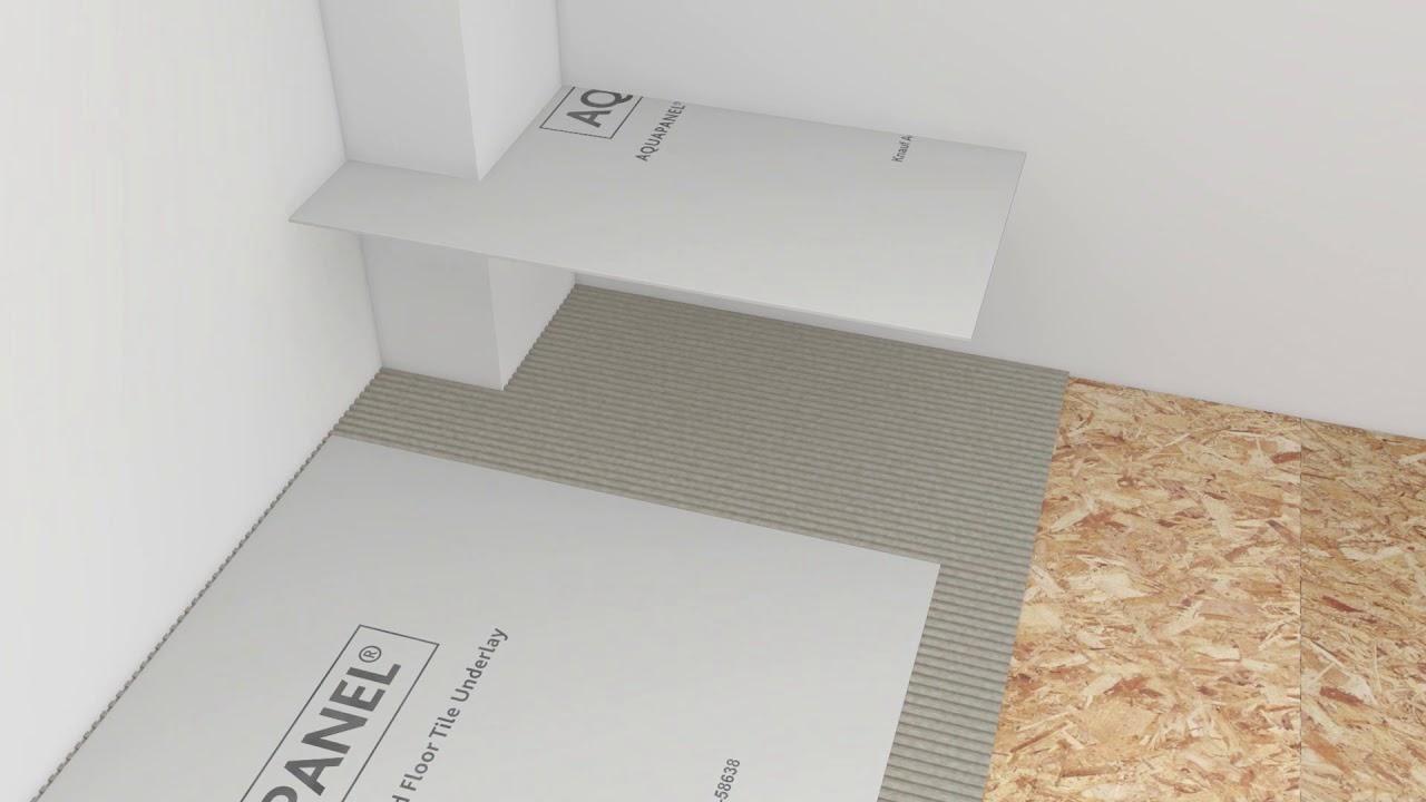 installation of knauf aquapanel cement board floor tile underlay diy uk ireland