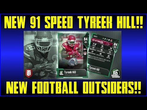 NEW FOOTBALL OUTSIDERS!! NEW 91 SPEED TYREEK HILL! - MADDEN 18 [MUT] PROMO OVERVIEW