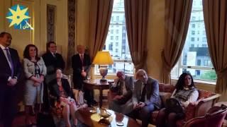 بالفيديو : حفل استقبال فى مقر السفير المصرى للأنبا أنيجلوس