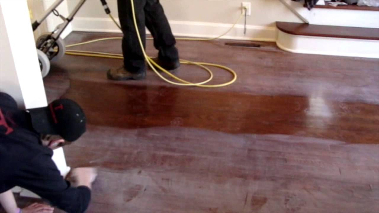 Hardwood floor buff and coat in kansas city youtube for Hardwood floors kansas city