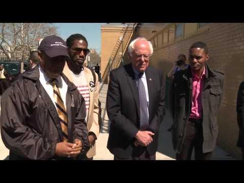 Brownsville Public Housing Press Conference   Bernie Sanders