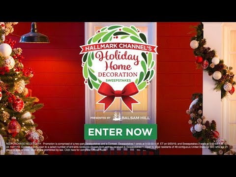 Enter Now - Hallmark Channel\'s Holiday Home Decoration Sweepstakes