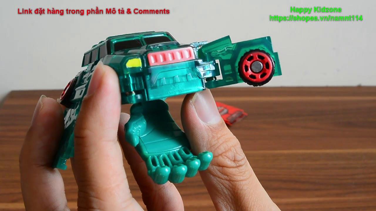 Mở hộp đồ chơi Turning Mecard – mẫu Mugan và Titan