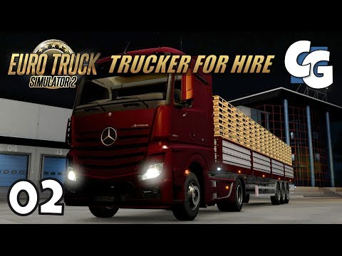 [ETS2] Trucker for Hire - Ep. 2 - Night Trucking to Toulouse - ETS2 ProMods 2.16 Let's Play