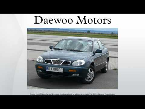 Daewoo Motors - YouTube