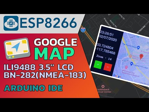 NodeMCU(ESP8266) | GPS | ILI9488 - Showing Google Map with Device Position on Display🗺️