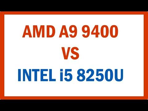 Amd A9 Vs Intel I5 8250u Cual Es Mejor Cpu Procesador Youtube