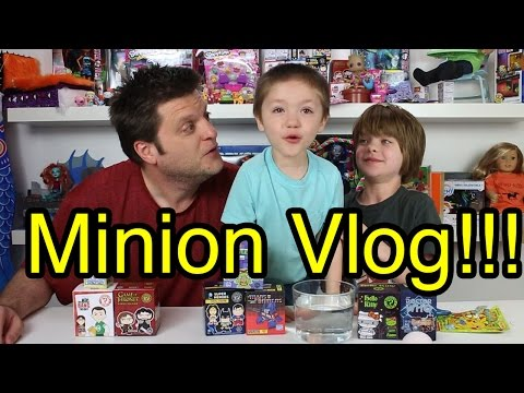 Opening Blinds Minion Vlog(one piece, transformers, pokemon) - Day 656 | ActOutGames