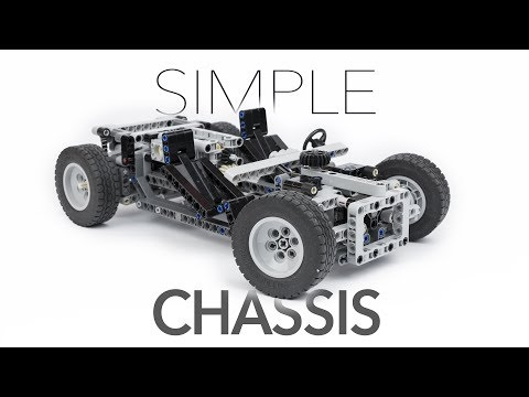 Simple LEGO Technic Chassis w/ Instructions
