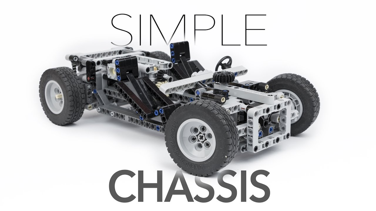 Simple Lego Technic Chassis W Instructions Youtube