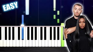 Sam Smith Normani Dancing With A Stranger - EASY Piano Tutorial by PlutaX.mp3