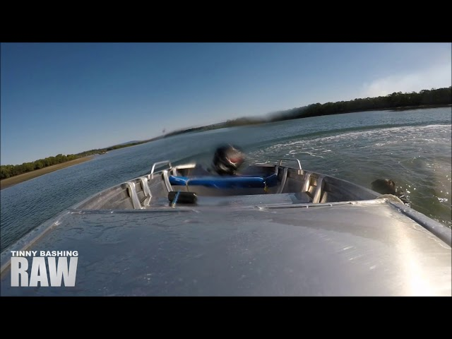 Boat Rolls & Driver Thrown Out || Tinny Bashing RAW