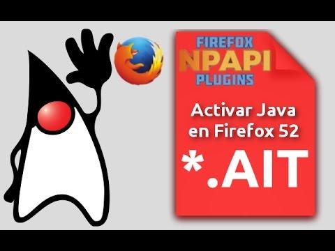 Activar plugin Java y otros plugin NPAPI en Firefox 52 y Firefox 53