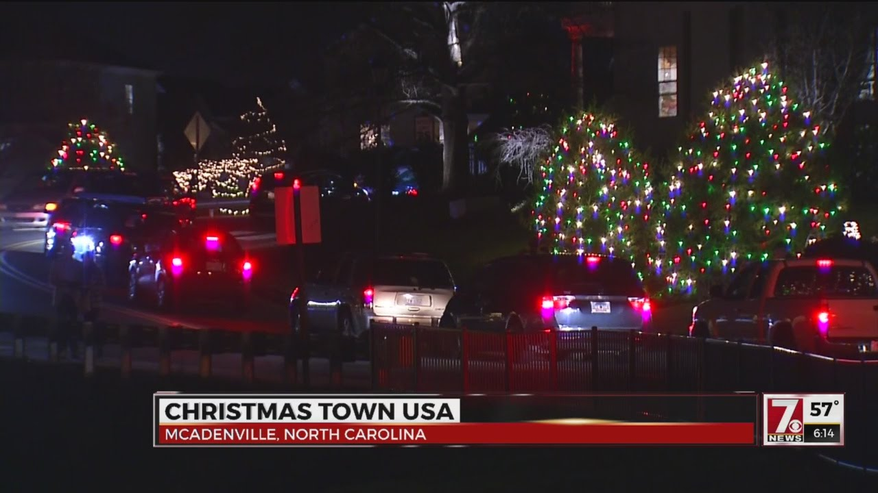 Mcadenville Christmas Lights.Visit Christmas Town Usa In The Carolinas