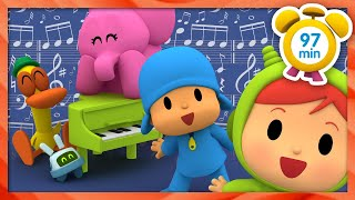 🥁 POCOYO in ENGLISH - Music classes [ 97 minutes ] | Full Episodes | VIDEOS and CARTOONS for KIDS
