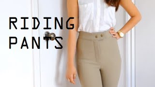 How I Style American Apparel Riding Pants | petitejuls