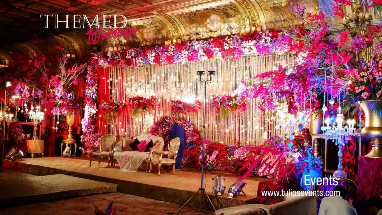 Electrifying Red Wedding Reception Stage Decor In Pakistan Youtube
