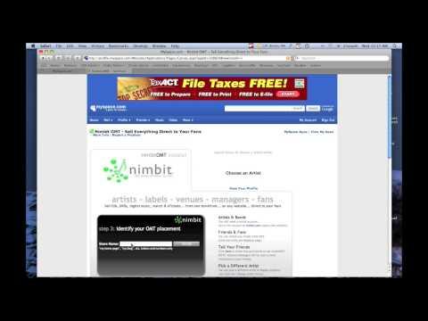 Sell Music on Myspace: Install the nimbitOMT Tutorial