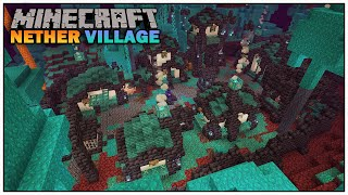 How to Build A Village in the Nether - Minecraft 1.16 [Warped Forest]